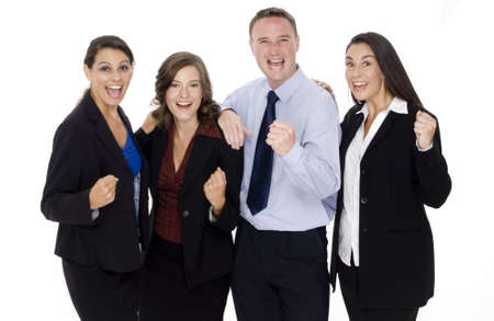 collectives: A successful business team celebrate their achievements