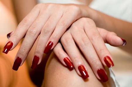 manicured hands: A close-up shot of freshly manicured hands