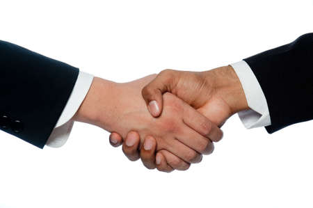 Close-up of  businessmen shaking hands photo