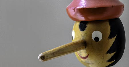 Pinocchio. Wooden puppet with long nose Standard-Bild