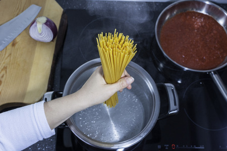 Pasta - spaghetti - noodles cooking