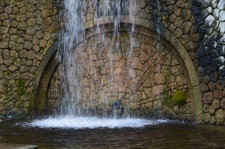 none: None knstlicher waterfall in Bonn Rheinauen