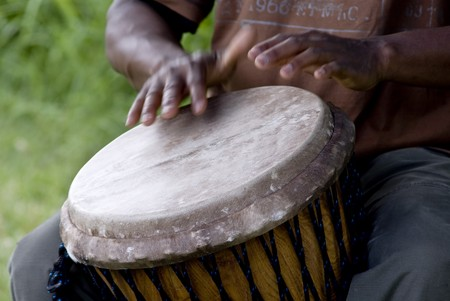 south african: Drum Stock Photo