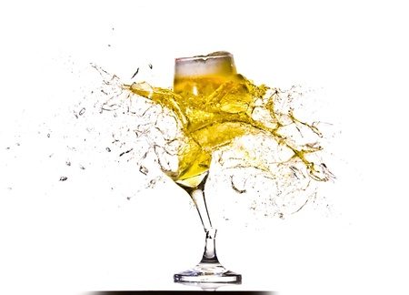 Exploding glass of beer