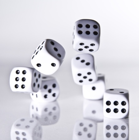 six objects: Dice