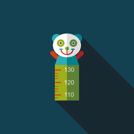 height: Height scale flat icon with long shadow