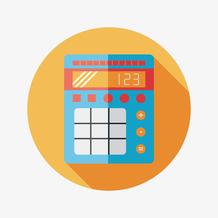 multiply: calculator flat icon with long shadow