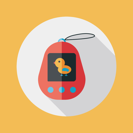 foster: pocket pet flat icon with long shadow