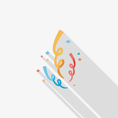 confetti flat icon with long shadow Vector