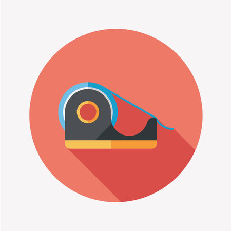 adhesive tape: adhesive tape flat icon with long shadow Illustration