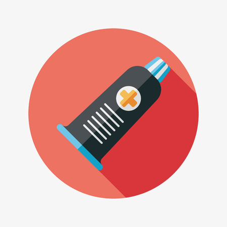 pampering: tube flat icon with long shadow