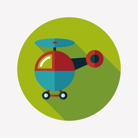 helicopter flat icon with long shadow,eps10 Vector