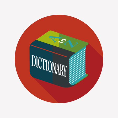 thesaurus: Dictionary flat icon with long shadow Illustration