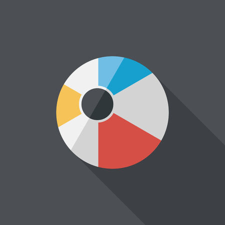beachball: Beach ball flat icon with long shadow Illustration