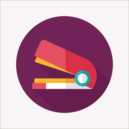 Stapler flat icon with long shadow,eps10 Vector