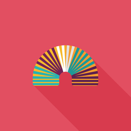 springy: Rainbow spiral flat icon with long shadow,eps10 Illustration