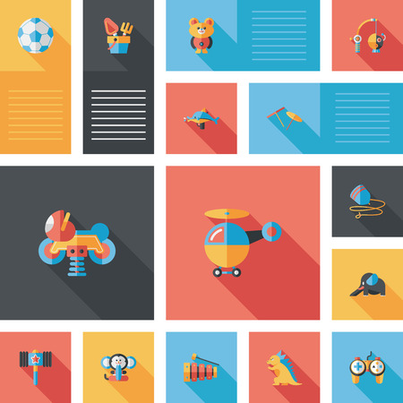 kid toys flat app ui background,eps10 Vettoriali