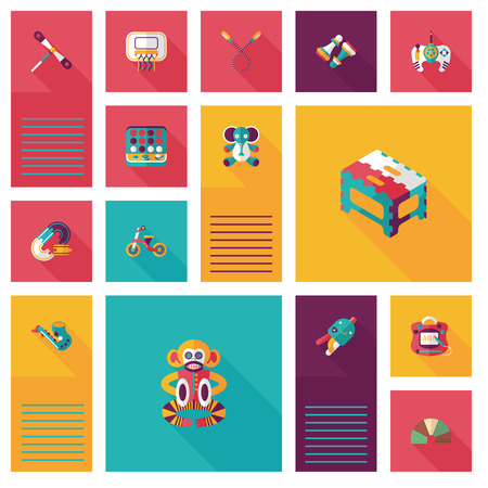 kid toys flat ui background,eps10 Vector
