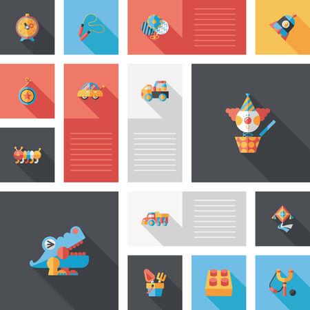 toy: kid toys flat app ui background,eps10 Illustration