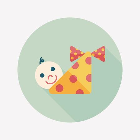 hispanic boys: baby flat icon with long shadow Illustration