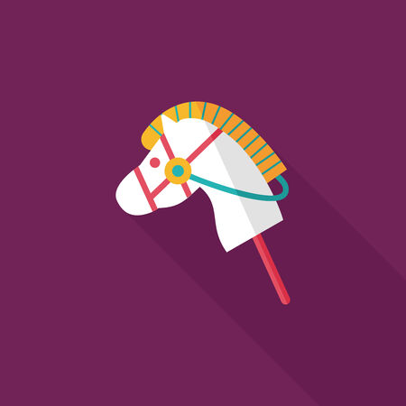 toy horse flat icon with long shadow,eps10 Vector