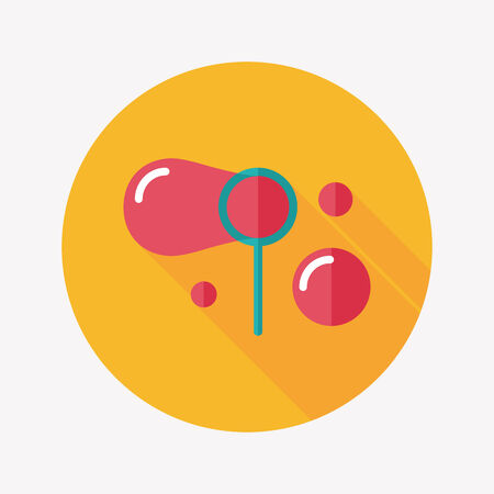 transparence: bubbles flat icon with long shadow,eps10
