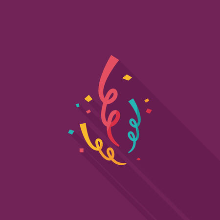 confetti flat icon with long shadow,eps10 Vector
