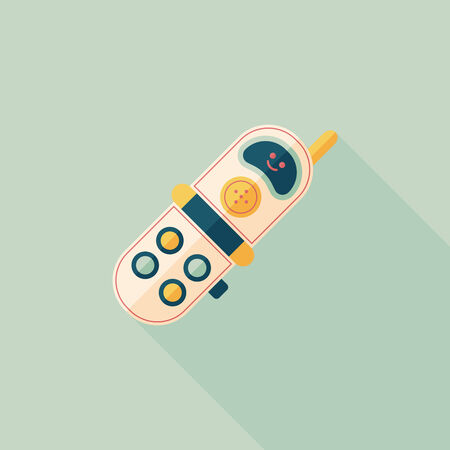 call outs: Toy Phone flat icon with long shadow