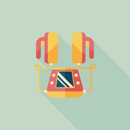 tachycardia: Coraz�n Desfibrilador icono plana con larga sombra