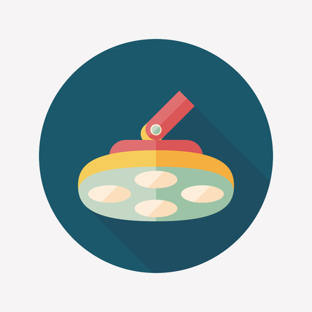 swivel: operating theatre light flat icon with long shadow