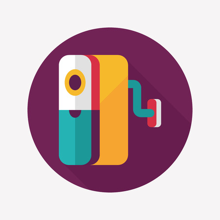 sharpener: Pencil sharpener flat icon with long shadow,eps10 Illustration