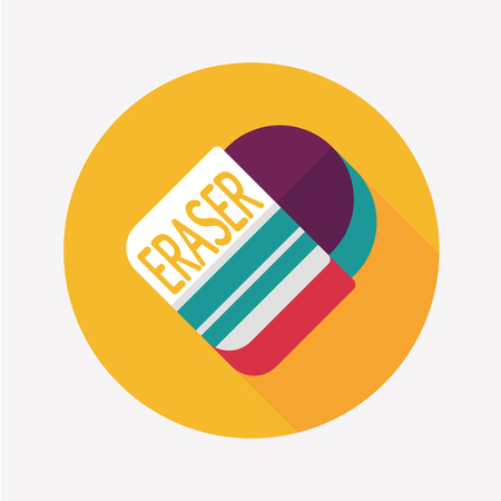 Eraser flat icon with long shadow,eps10Eraser flat icon with long shadow,eps10 Vector