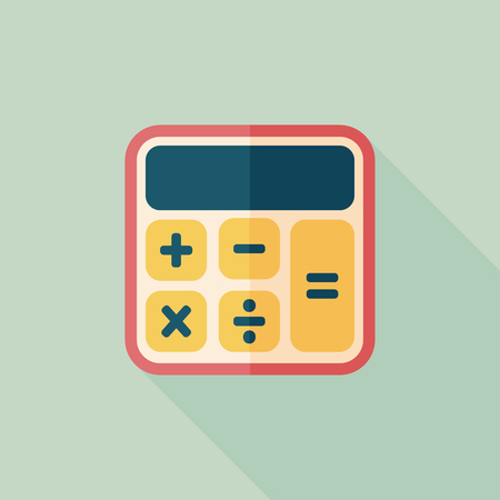 subtract: calculator flat icon with long shadow,eps10