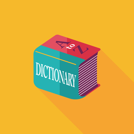 Dictionary flat icon with long shadow,eps10 Vettoriali