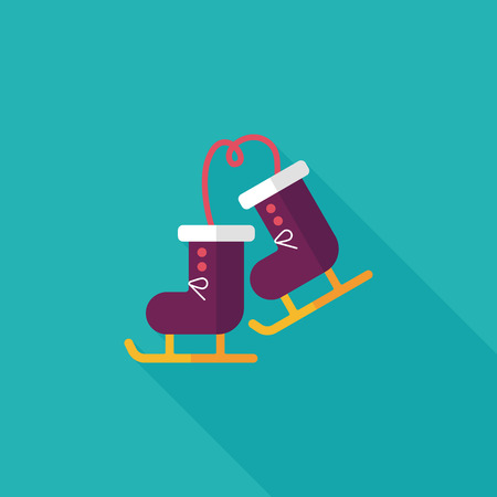 cragsman: ski boot flat icon with long shadow