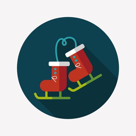 cragsman: ski boot flat icon with long shadow