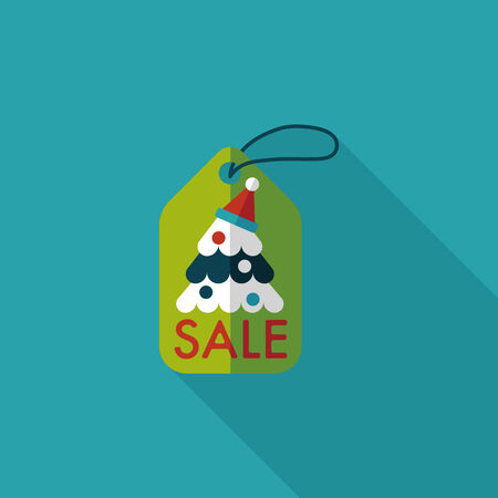 Christmas sale flat icon with long shadow Illustration