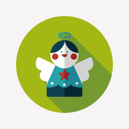 angel flat icon with long shadow Vector