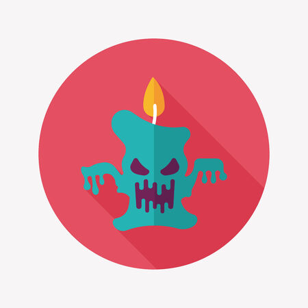 ghost candle flat icon with long shadow Vector