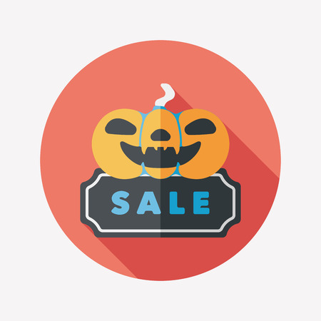 Halloween SALE flat icon with long shadow Vector