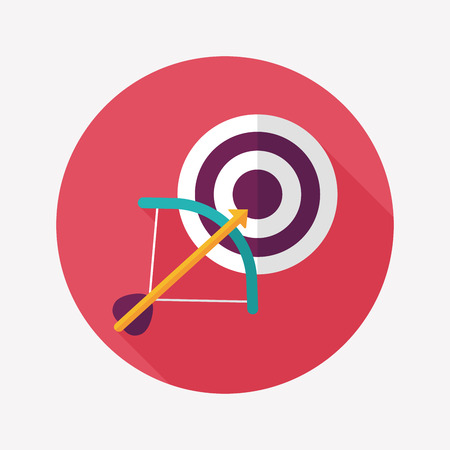 target flat icon with long shadow 向量圖像
