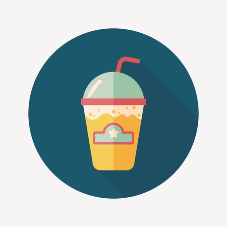 blended: frappucino flat icon with long shadow,eps10