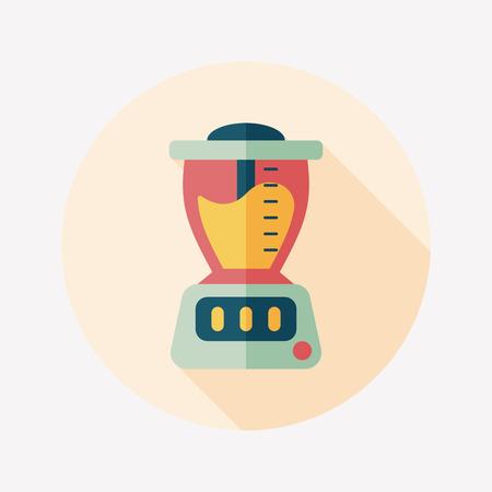 juice machine flat icon with long shadow,eps10 Illustration