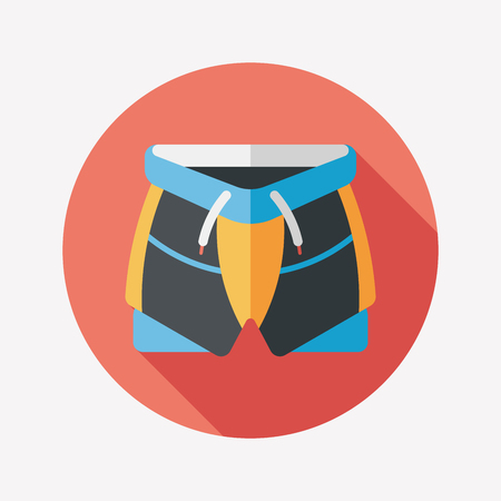 cycling shorts flat icon with long shadow