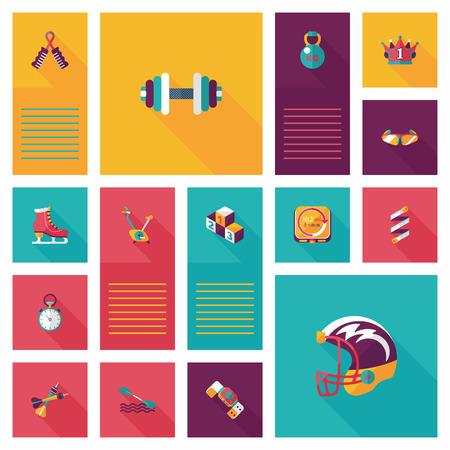boxing tape: sport flat ui background set Illustration