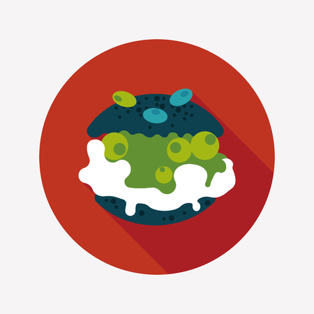 creampuff: Cream puffs flat icon with long shadow Illustration