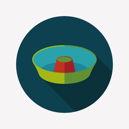 liquidizer: kitchenware juicer flat icon with long shadow