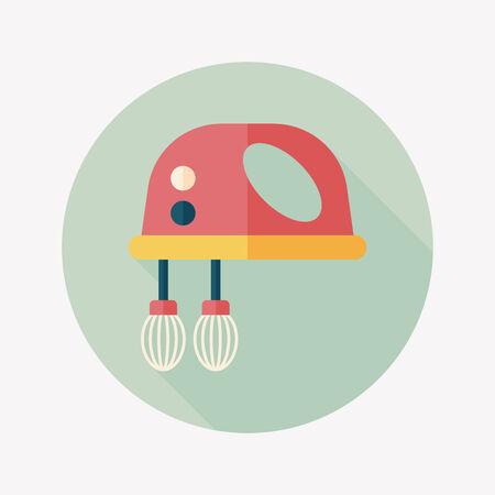 batidora: icono plana batidor de cocina electr�nica Vectores