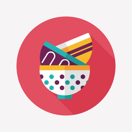 kitchenware bowl flat icon