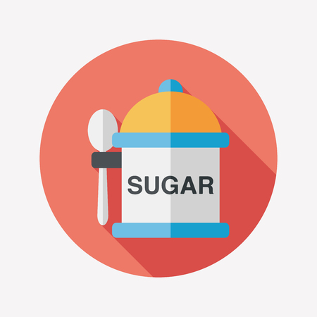 sweetener: kitchenware sugar flat icon